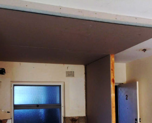 Construction-false-ceiling-nib-wall-Manly-1